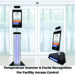 Temperature scanner and facial recognition for facility access control