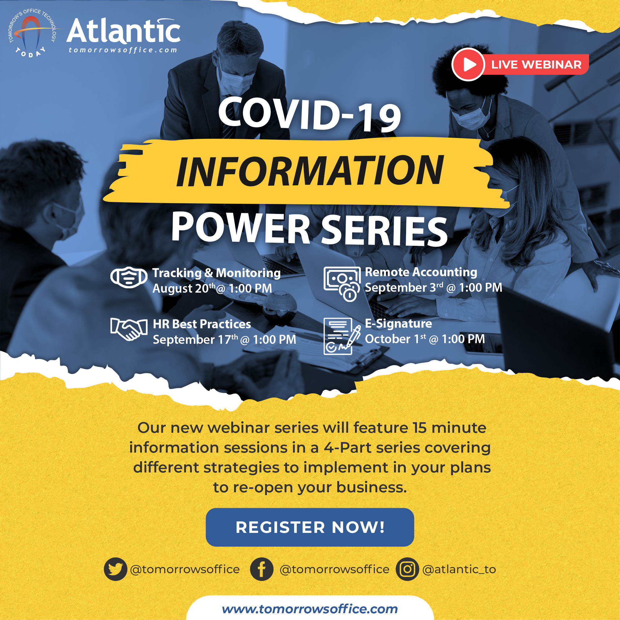 Join our COVID-19 Information Power Series